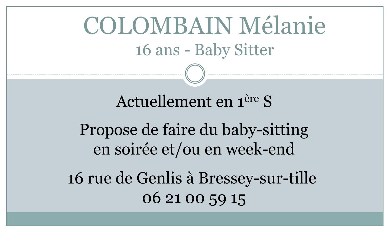 Colombain Mélanie